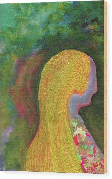Nostalgia - #ss19dw005 Wood Print by Satomi Sugimoto