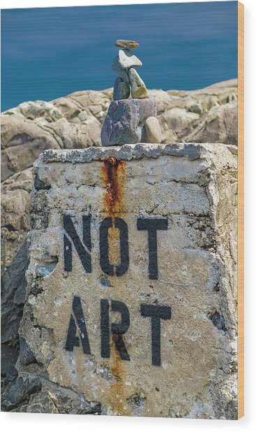 Not Art In Kennebunkport Maine Wood Print