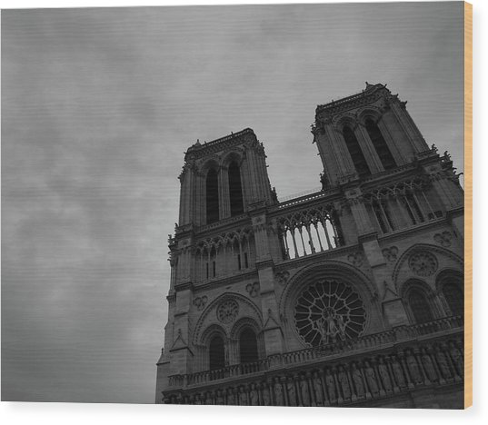 Wood Print featuring the photograph Notre Dame Cathedral by Edward Lee