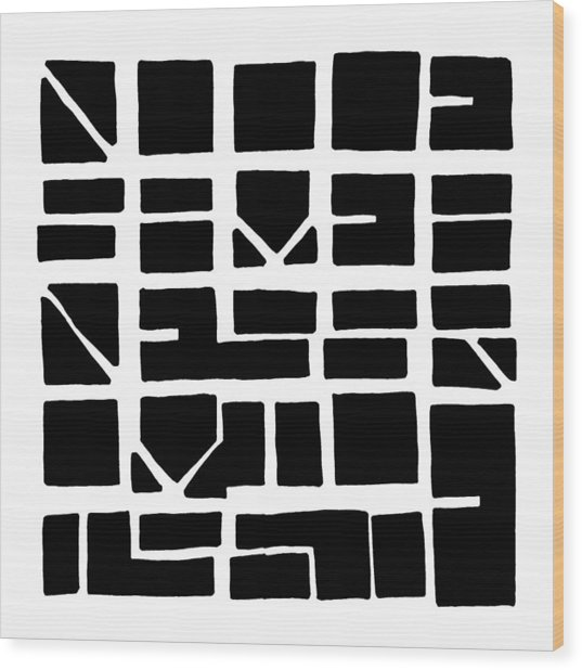 Nucle... Black Wood Print