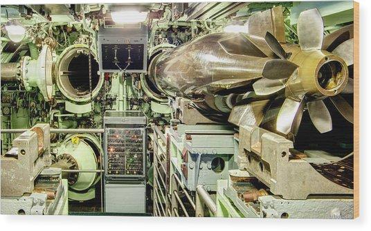Nuclear Submarine Torpedo Room Wood Print