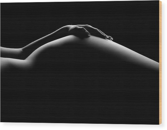 Nude Woman Bodyscape 19 Wood Print