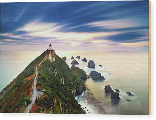 Nugget Point Lighthouse At Dawn, Catlins by Slow Images