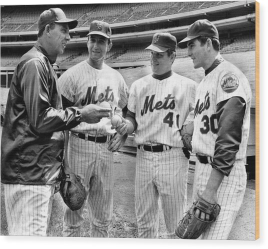 N.y. Mets Manager Gil Hodges Sports A Wood Print