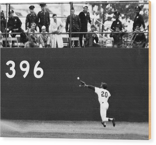 N.y. Mets Vs. Baltimore Orioles. 1969 Wood Print by New York Daily News Archive