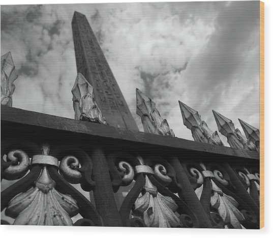Wood Print featuring the photograph Obelisk Two by Edward Lee
