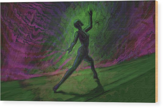 Obscured Dance Wood Print