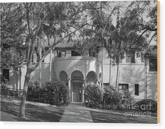 Occidental College Erdman Hall Wood Print