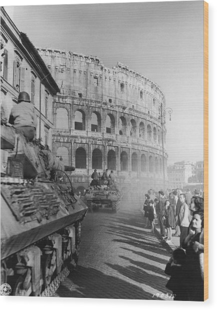 Occupation Of Rome Wood Print by Hulton Archive