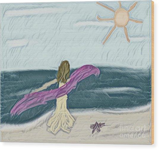 Ocean Dance Wood Print