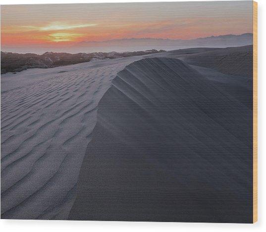 Oceano Dunes Sunset Wood Print