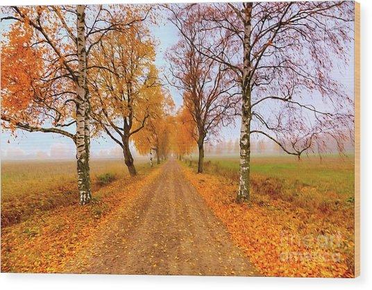 October Morning 6 Wood Print