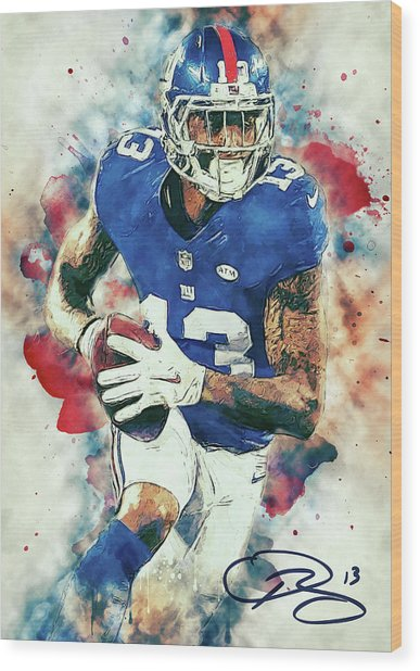 Odell Beckham Jr. Wood Print