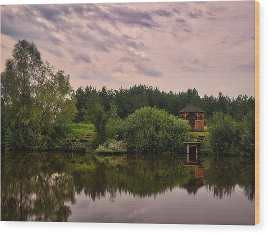 Wood Print featuring the photograph Of Reflections... Kolychivka, 2018. by Andriy Maykovskyi