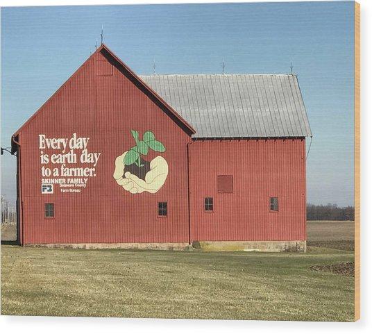 Ohio Barn  Wood Print