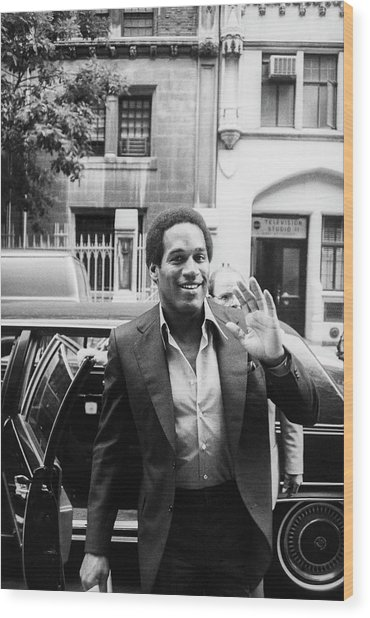 O.j. Simpson Wood Print by Art Zelin