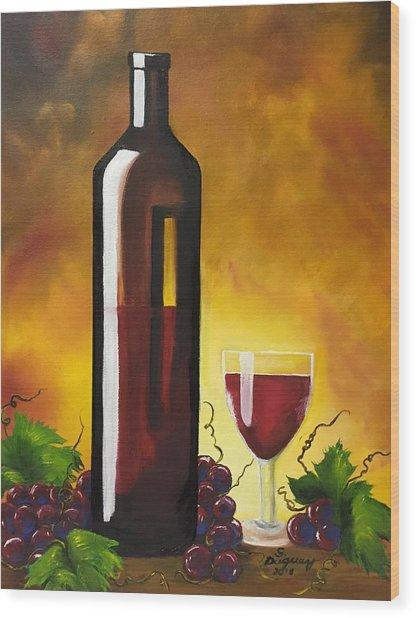 Okanagan Red  Wood Print