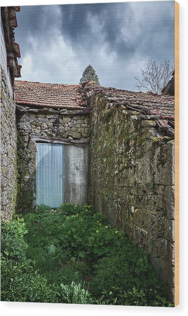 Old Abandoned House In Bainte Wood Print