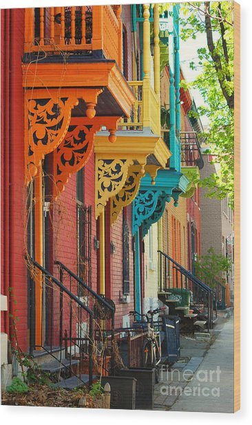 Old Architecture In Montreal Wood Print