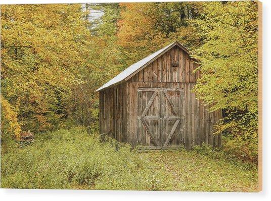 Old Barn New England Wood Print