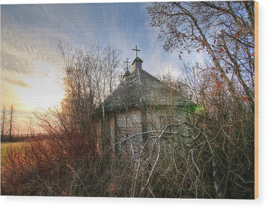 Old Calder Church Wood Print