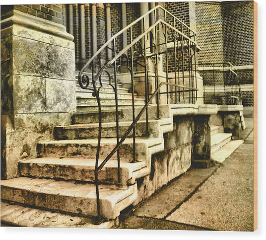 Old Church Entrance In Vienna Wood Print