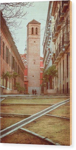 Old Church In Madrid Spain Wood Print