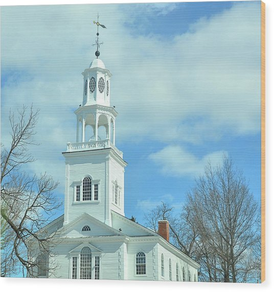 Old First Church Wood Print by JAMART Photography