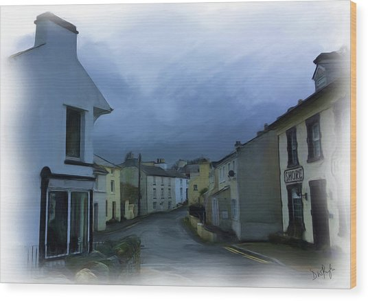 Old Laxey Village 1 Wood Print