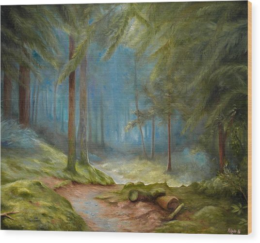 Old Mans Path Wood Print by Mikael Wigen