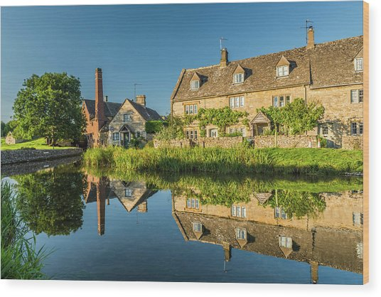 Old Mill, Lower Slaughter, Gloucestershire Wood Print by David Ross