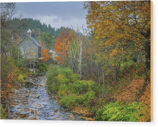 Old Mill New England Wood Print