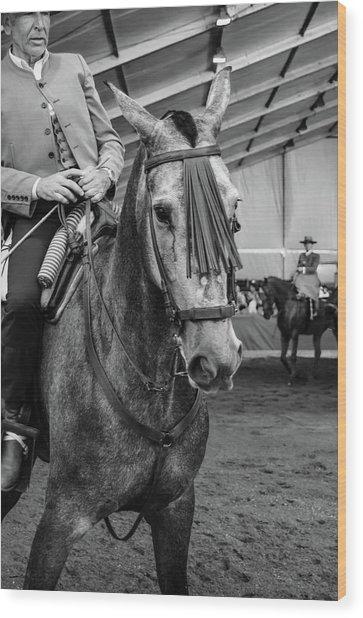 Old Rider Wood Print