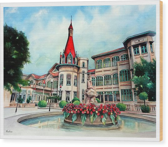 Old Thailand Palace, Architecture Wood Print