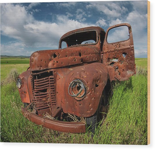 Old Truck Wood Print by Leland D Howard