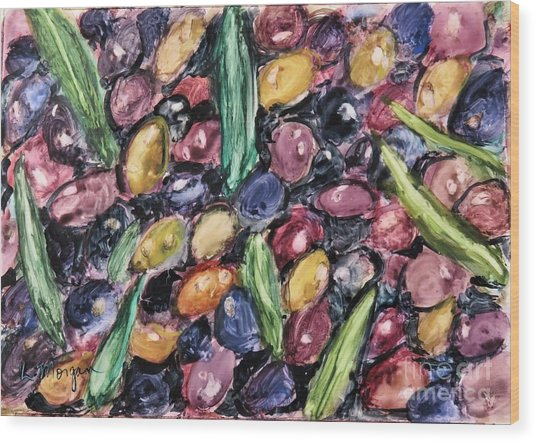 Olives Ready For Pressing Wood Print