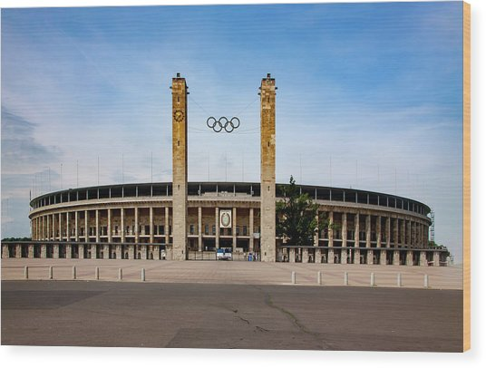 Olympic Stadium Berlin Wood Print
