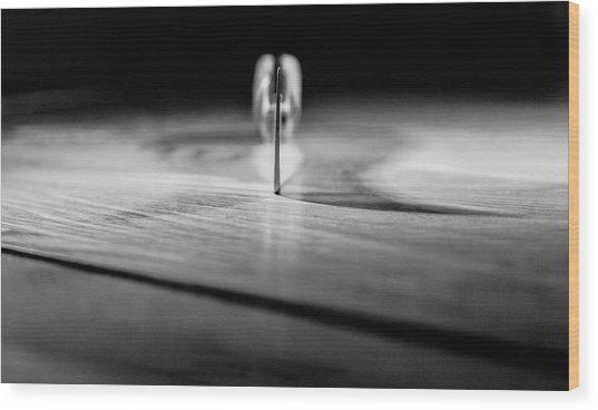On A Knife Edge Wood Print