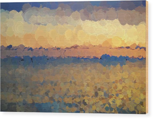On The Horizon Wood Print