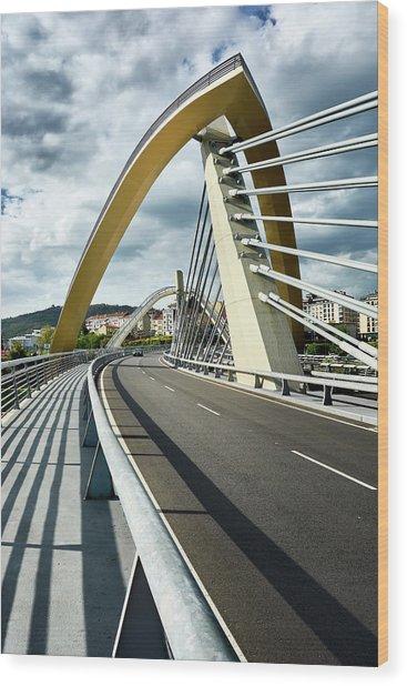 Millennium Bridge In Ourense, Spain Wood Print