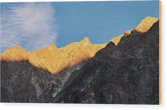 On The Ridge Wood Print