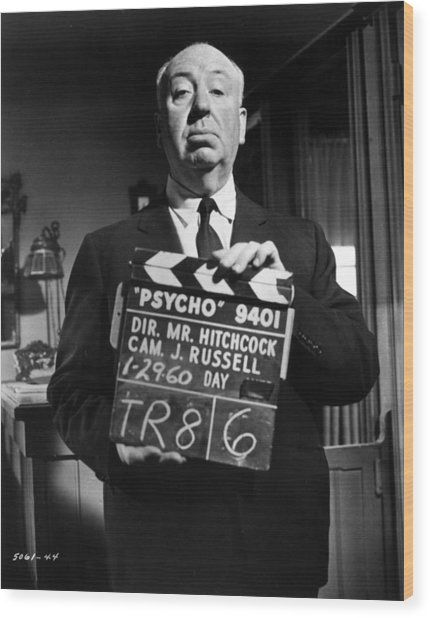 On The Set Of Psycho Wood Print