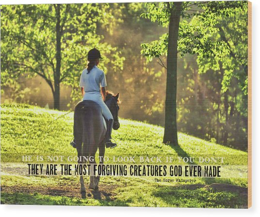 On The Showgrounds Quote Wood Print by JAMART Photography