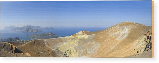 On The Top Of Volcano Wood Print by Maremagnum