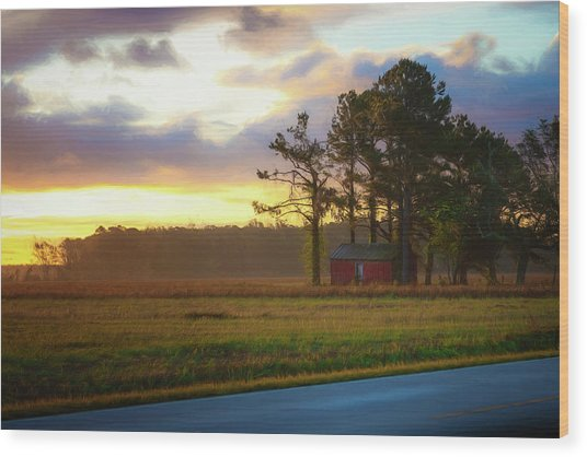 Wood Print featuring the photograph Onc Open Road Sunrise by Cindy Lark Hartman