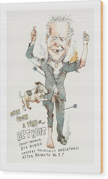 Once Upon A Time . . . In Detroit Wood Print by Barry Blitt