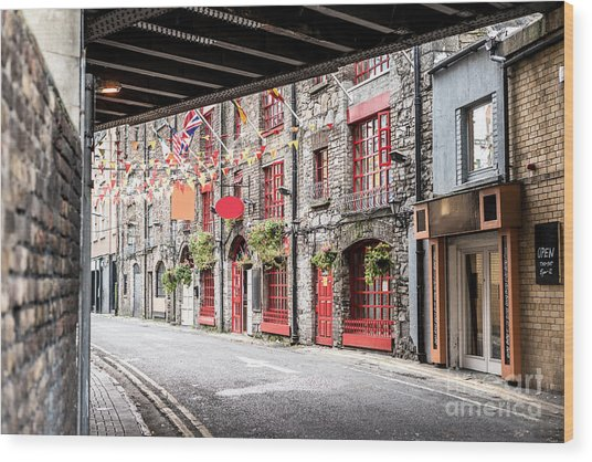 One Beautiful  Street  In Dublin Wood Print by Massimofusaro