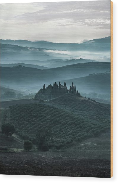 One Cold Day In Tuscany Wood Print