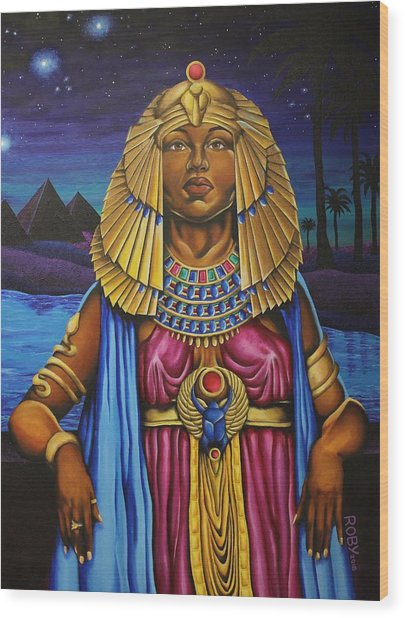One Night Over Egypt Wood Print