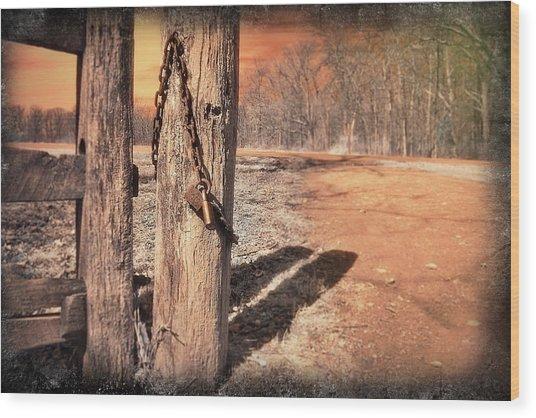 Open Locked Wood Print